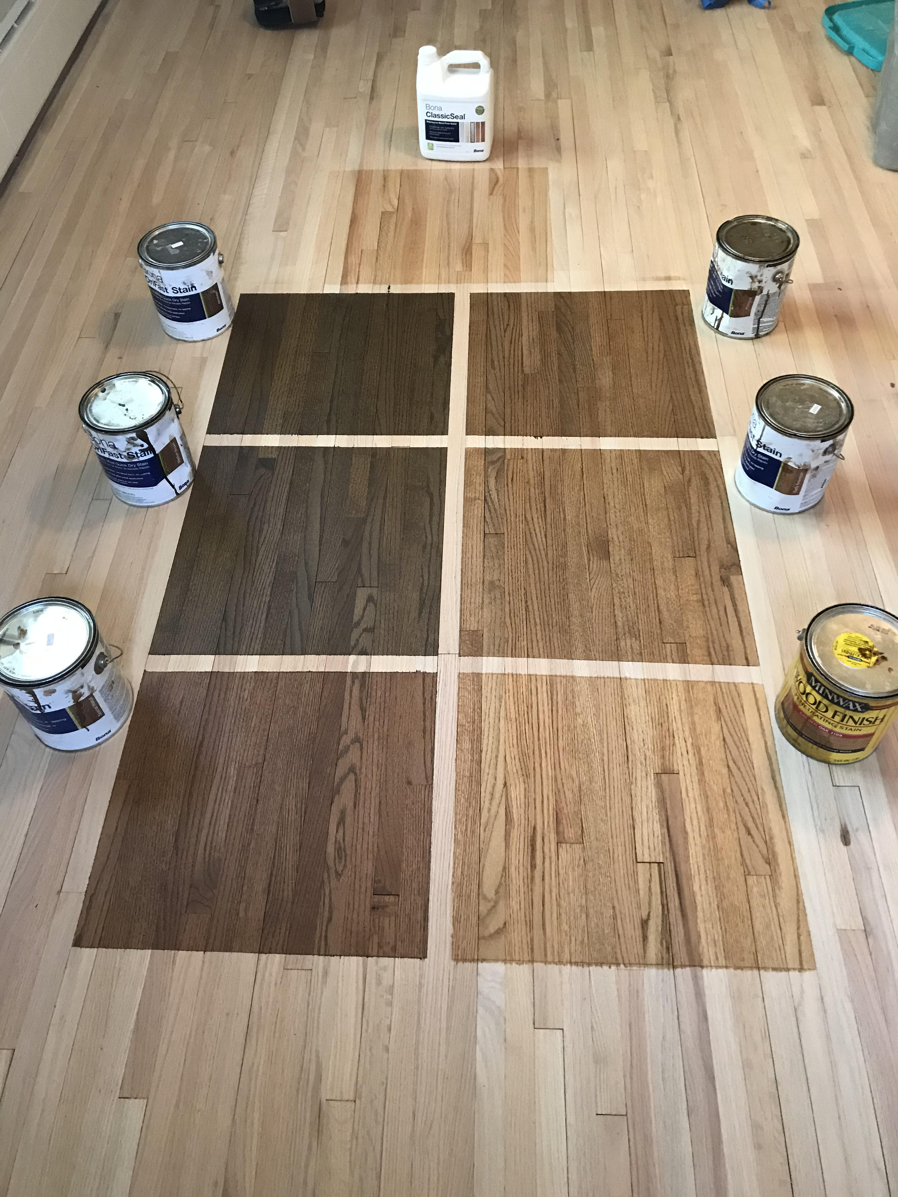 Floor Stain Test Squares